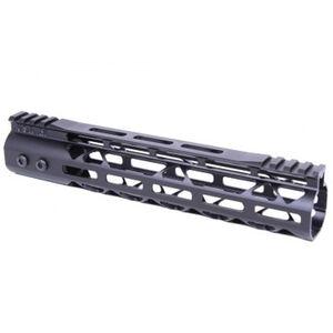 "Guntec AR-15 10"" MOD LITE Skeletonized Series M-LOK Free Floating Handguard with Monolithic Top Rail Aluminum Anodized Black"