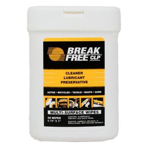 "Break-Free CLP Weapon Wipes 20 Wipes 6"" x 3"""