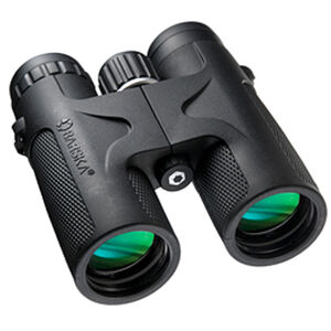 BARSKA 10x42mm WP Compact Blackhawk Binoculars Alloy Body Rubber Coating Matte Black