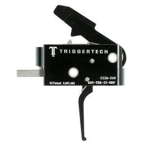 Trigger Tech Combat AR-15 Primary Drop In Replacement Trigger Flat Lever Two Stage Non-Adjustable PVD Coated Black Finish