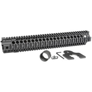 "Midwest Industries AR-15 Combat Rail T-Series 15"" One Piece Free Float Hand Guard 6061 Aluminum Hard Coat Anodized Matte Black Finish"