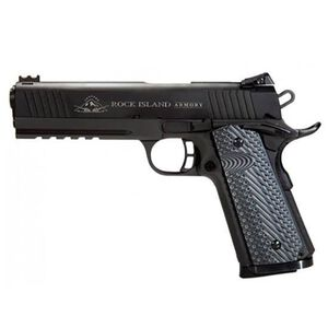 "Rock Island Armory TAC 2011 VZ Mid-Size Semi Auto Handgun 10mm Auto 4.25"" Barrel 8 Rounds Picatinny Rail Fiber Optic Front Sight Skeletonized Hammer/Trigger Steel Parkerized 51994"