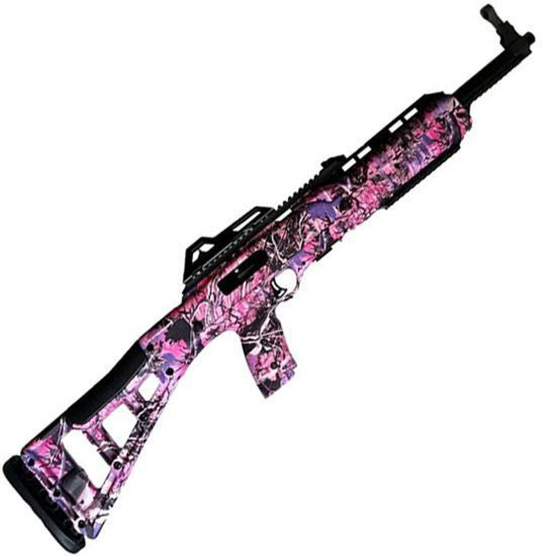 "Hi-Point Carbine Semi Auto Rifle .45 ACP 17.5"" Barrel 9 Rounds Polymer Stock Pink Camo 4595TSPI"