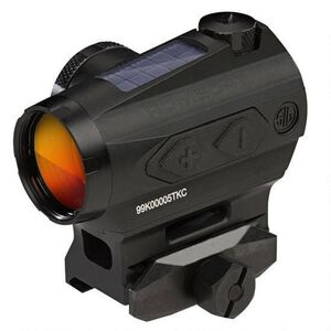 SIG Sauer Romeo4T Red Dot Optic 1x 2 MOA Circle Plex Reticle Picatinny Hex Bolt Mount MOA Adjustment Unlimited Eye Relief Solar/CR2032 Battery Powered Aluminum Housing Matte Black