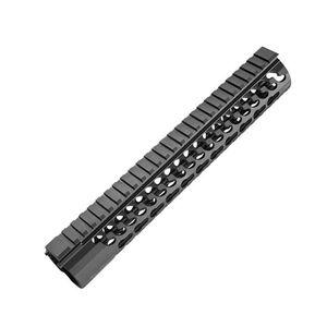 "Samson Manufacturing Free Float KeyMod Evolution Series 10"" Hand Guard 6061 T6 Aluminum Hard Coat Anodized Black KM-EVO-10"