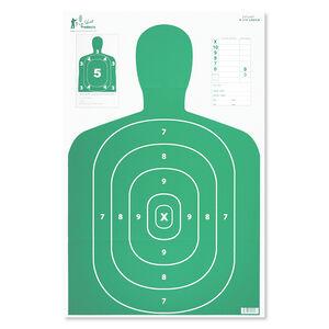 "Pro-Shot 23"" x 35"" B27 Silhouette Target Green 5 Pack"