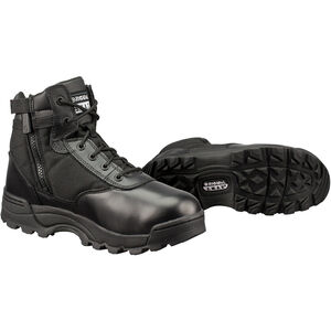 "Original S.W.A.T. Classic 6"" Side Zip Men's Boot Non-Marking Sole Leather/Nylon Size 12 Wide Black 1164W-12.0"