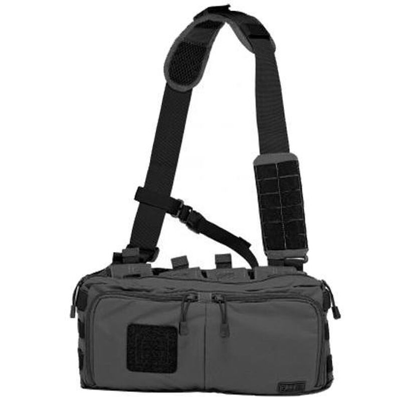 5.11 Tactical 4 Banger Bag Cross Body Strap 1050D Tear Resistant Nylon Black 56181-019