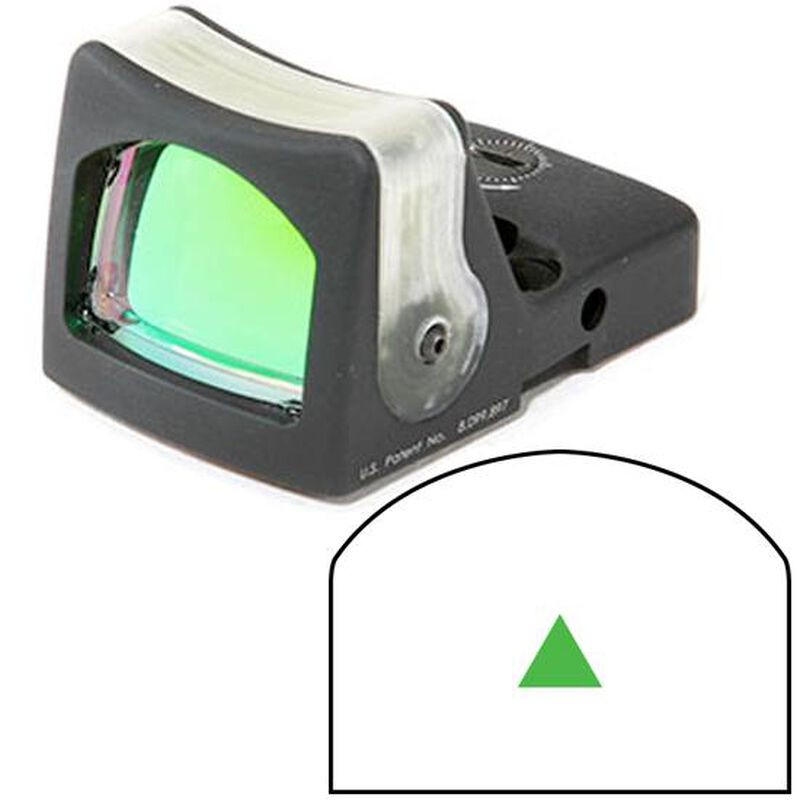 Trijicon RMR Dual Illuminated 12.9 MOA Green Triangle No Mount Black RM08G