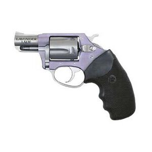 """Charter Arms Lavender Lady Revolver .38 Special +P 2"""" Barrel 5 Rounds Alloy Frame Stainless Finish Black Rubber Grips 53840"""