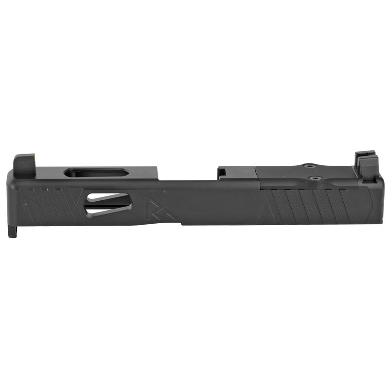 Rival Arms Slide for GLOCK 19 Gen 4 Frame MOS/RMR Ready Optic Cut/Night Sights CNC Machined 17-4PH Stainless Steel Billet Matte Black Finish