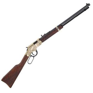 """Henry Golden Boy Deluxe 3rd Edition Lever Action Rifle .22 WMR 20"""" Octagonal Barrel 12 Rounds Engraved Receiver Walnut Stock Blued H004MD3"""