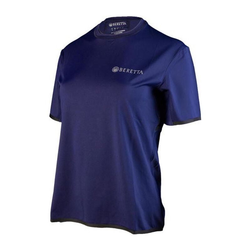 Beretta Women's Tech Shooting Short Sleeve Polo Size X-Large Poly Mesh/Cotton Twill Navy Blue