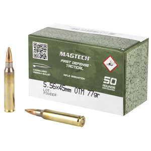 Magtech First Defense Tactical 5.56 NATO Ammunition 50 Rounds HPBT 77 Grains 556C