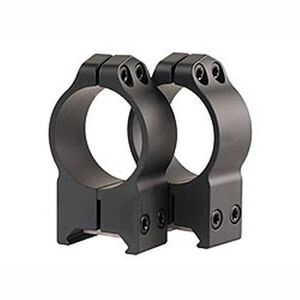 Warne Maxima Fixed Attach Weaver/Picatinny Style Scope Ring 30mm Tube High Height Matte Black Finish 215M