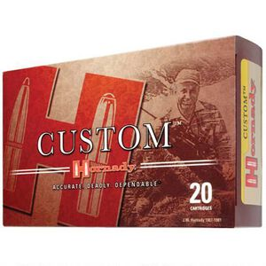 Hornady Custom .358 Winchester Ammunition 20 Rounds SP 200 Grains 91318