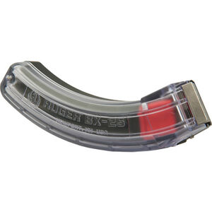 Ruger 10/22 BX-25 Series Magazine .22 LR 25 Round Polymer Construction Clear Finish