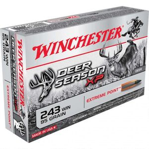 Winchester Deer Season XP .243 Win Ammunition 200 Rounds, PT, 95 Grains