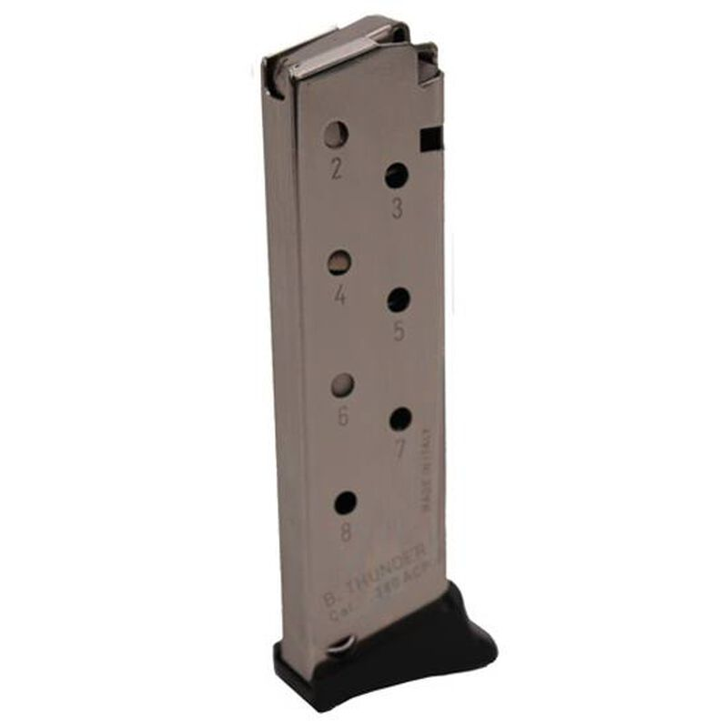 Mec-Gar Bersa Thunder  380 ACP Magazine 8 Rounds Steel Nickel MGBT3808N