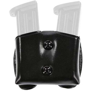 Galco Gunleather C.D.M. Cop Double Magazine Case 1911 .45 ACP Single Stack Magazines Leather Black