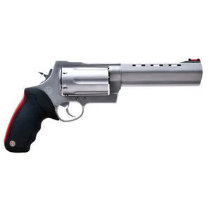 """Taurus Raging Judge 513 Double Action Revolver .454 Casull/.45 Long Colt/.410 Bore 3"""" Chamber 6.5"""" Barrel 6 Round Fixed Red Fiber Optic Front Sight Rubber Grip Matte Stainless Steel"""