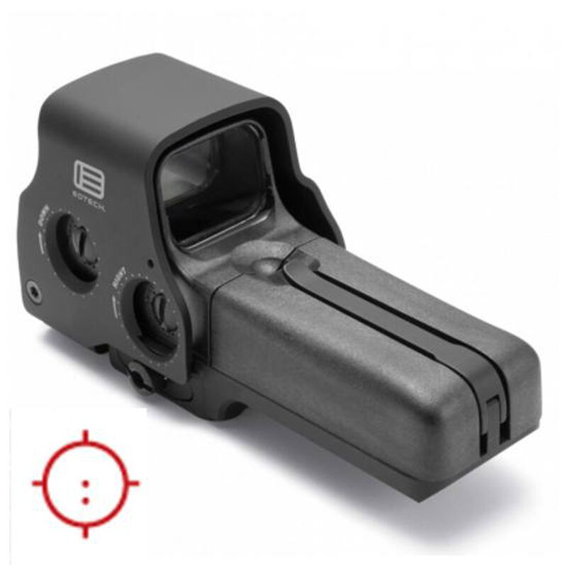 EOTech Model 518-2 Holographic Weapon Sight 65 MOA Circle with 2 Dot AA Batteries Picatinny/Weaver Quick Disconnect Mount Matte Black