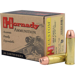 Hornady .454 Casull Ammunition 20 Rounds XTP JHP 300 Grains 9150