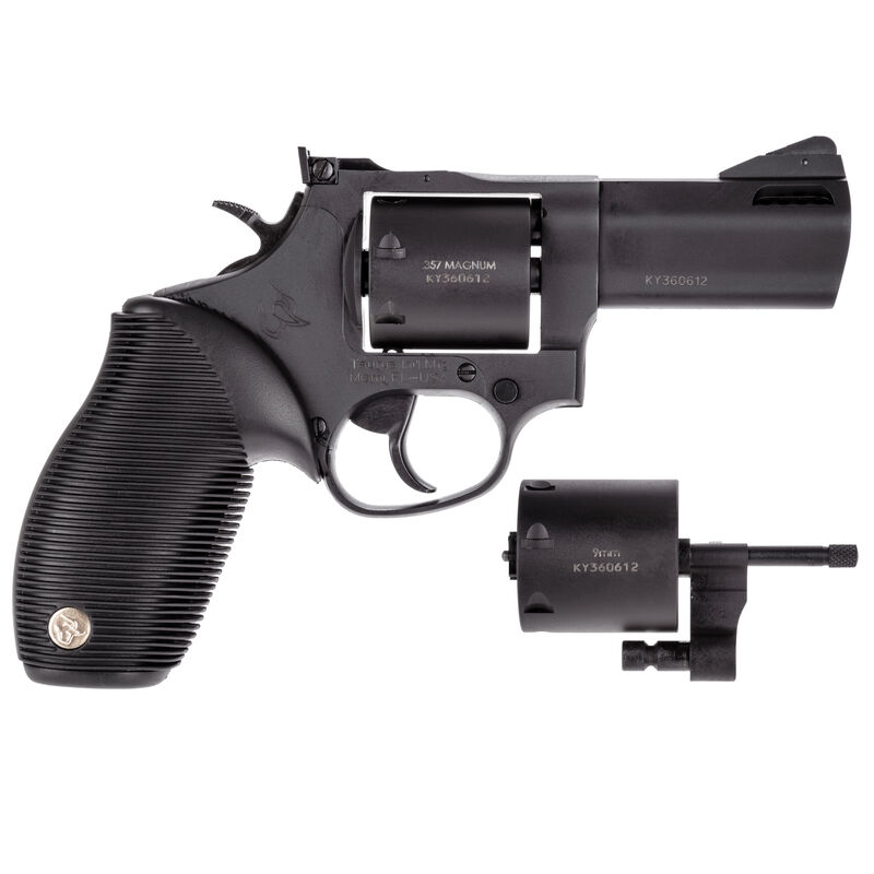 """Taurus Tracker 692 .38 Spl/.357 Mag/9mm Double Action Revolver 3"""" Barrel 7 Rounds Fixed Front Sight/Adjustable Rear Sight Ribber Grip Black Oxide Finish"""