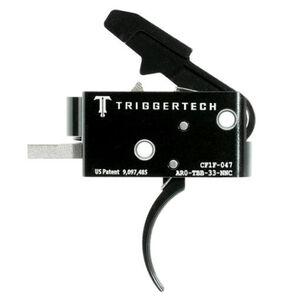 Trigger Tech Competitive AR-15 Primary Drop In Replacement Trigger Curved Lever Two Stage Non-Adjustable PVD Black Finish
