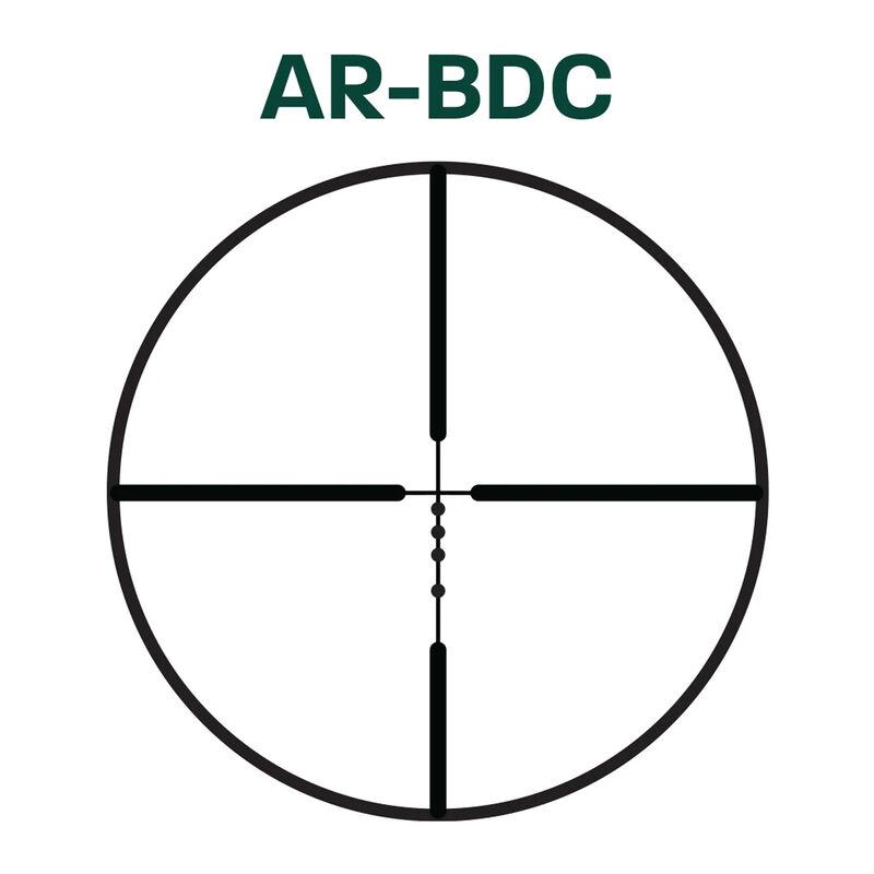 Alpen Optics Alpen Kodiak 1-4x24 Riflescope 30mm Tube AR-BDC Reticle Second Focal Plane .50 MOA Adjustments Matte Black