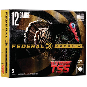 "Federal HEAVYWEIGHT TSS 12 Gauge Ammunition 5 Rounds 3-1/2"" Shell #8/#10 Combo Tungsten Shot 2-1/2 Ounce 1200fps"