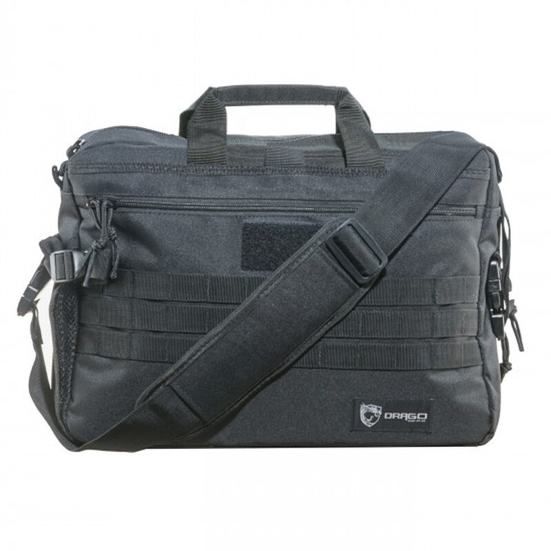 "DRAGO Gear Tactical Laptop Briefcase 18.5""x5.5""x13"" 600D Polyester Black 15305BL"