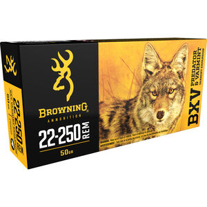 Browning BXV .22-250 Remington Ammunition 200 Rounds BXV 50 Grains B192322250
