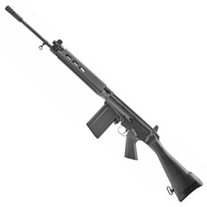 "DS Arms SA58 Cold Warrior Rifle FAL 7.62 NATO Semi Auto Rifle 21"" Barrel 20 Rounds Metric Pattern Magazine Fixed Stock Matte Black"