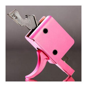 CMC AR-15 Drop-In Single Stage Trigger Curved Bow 3.5-4 lbs Pull Pink 91501P