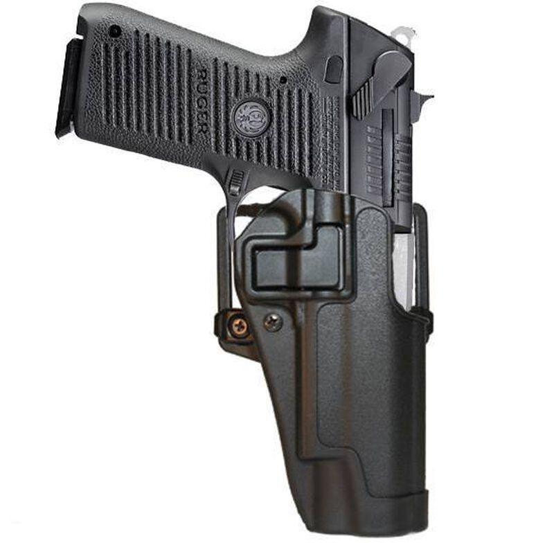 BLACKHAWK! SERPA CQC Belt/Paddle Holster Ruger P85/P89 Right Hand Polymer  Black 410511BK-R