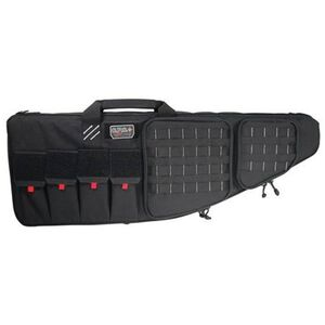 "G-Outdoors G.P.S. Tactical Rifle Case 42"" With External Handgun Case 1000 Denier Heavy Duty Material DuPoint Teflon Coated Black Finish"
