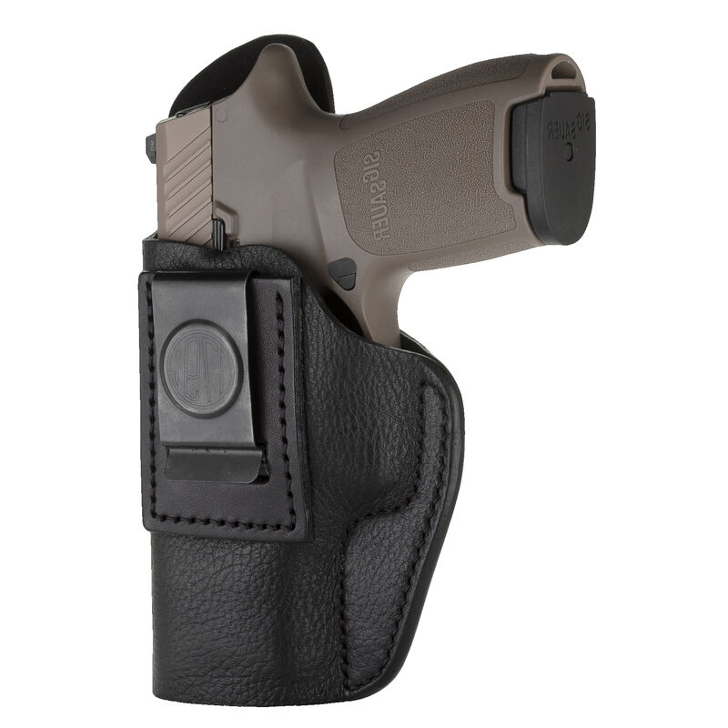 1791 Gunleather Smooth SCH-3 Multi-Fit IWB Concealment Holster for Sub-Compact Slim Semi Auto Pistols Left Hand Draw Leather Black