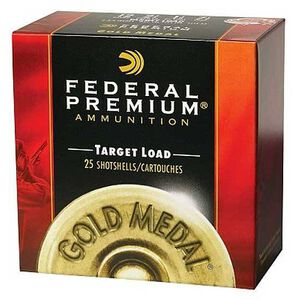 """Ammo 20 Gauge Federal Gold Medal Plastic 2-3/4"""" #9 Lead 7/8 Ounce 250 Round Case 1200 fps T2069"""