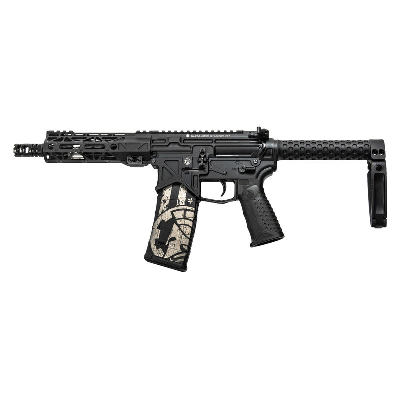 "Battle Arms Development BAD300-LW .300 AAC Blackout AR-15 Semi Auto Pistol 7.5"" Barrel 30 Rounds Free Float Hand Guard SaberTube Tail Hook Brace Black"