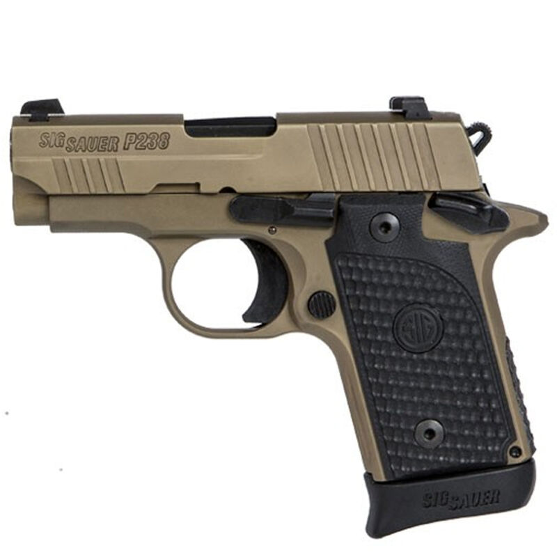 "SIG Sauer P238 Emperor Scorpion Micro-Compact Semi Auto Pistol .380 ACP 2.7"" Barrel 7 Rounds SIGLITE Sights G10 Piranha Grips Flat Dark Earth Finish"