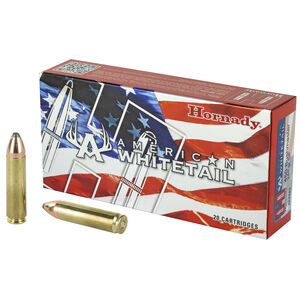 Hornady American Whitetail .450 Bushmaster Ammunition 20 Rounds 245 Grain InterLock JSP Projectile 2200 fps