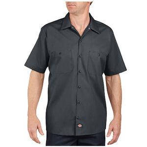 Dickies Short Sleeve Industrial Permanent Press Poplin Work Shirt 2 Extra Large Regular Charcoal LS535CH