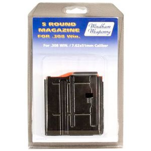 Windham Weaponry .308 AR Magazine .308 Winchester/7.62 NATO 5 Rounds Steel Box Black Finish