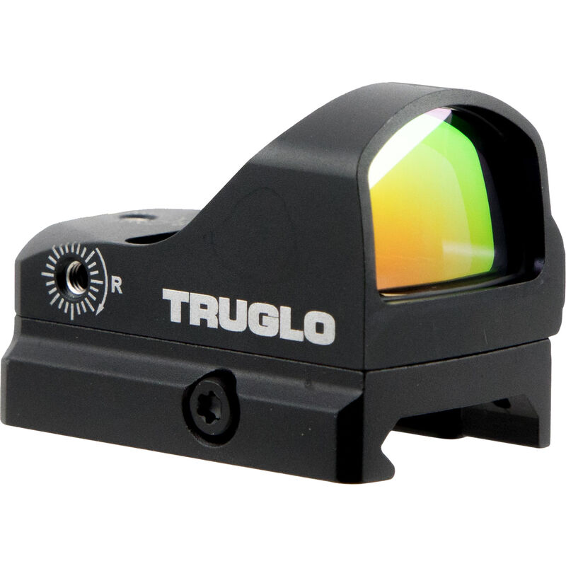 Truglo Tru-Tec Red Dot Sight, Aluminum, 3 MOA Reticle, Picatinny and Pistol Mount, Black Finish, CR2032