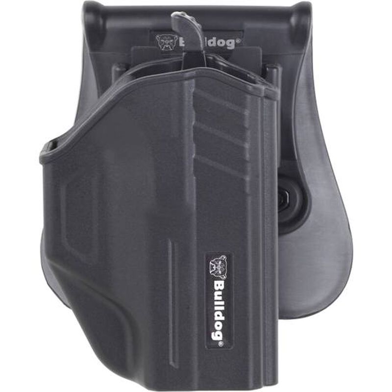 Bulldog Cases Thumb Release Polymer Holster With Paddle And Mag Holder RH Fits S&W M&P Shield