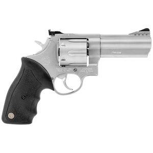 """Taurus Model 44 .44 Magnum Double Action Revolver 4"""" Ported Barrel 6 Rounds Soft Rubber Grips Matte Stainless Steel Finish"""