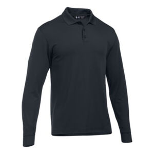 Under Armour Tactical Performance Men's Long Sleeve Polo Size Small Black