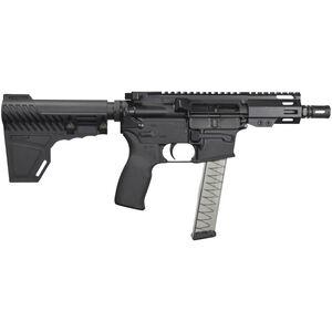 "I.O. Inc. Hellfire 9mm Luger AR-15 Semi Auto Pistol 5.25"" Barrel 30 Rounds Uses GLOCK Style Magazines 4"" M-LOK Handguard Fixed Blade Pistol Brace Black Finish"