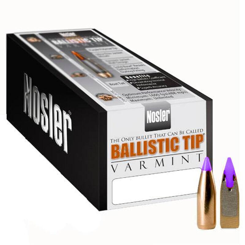 "Nosler 6mm Caliber (.243"" Diameter) 70 Grain Spitzer Purple Ballistic Tip Varmint Bullet 100 Count 39532"